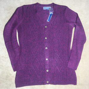 Áo khóac len nữ hiệu Karen Scott màu tím size XS chính hãng