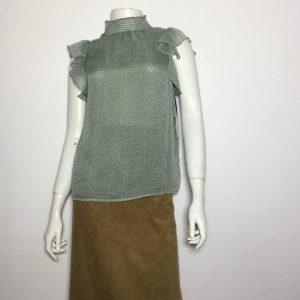 Áo-kiểu-nữ-hiệu-State-cổ-lọ-tay-ngắn-màu-xanh-nhạt-có-họa-tiết-size-XXS-chính-hãng