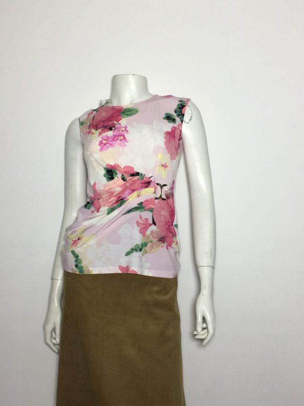 Áo-kiểu-thun-nữ-hiệu-Calvin-Klein-không-tay-cổ-tròn-màu-hồng-nhạt-có-họa-tiết-hoa-size-XS-chính-hãng