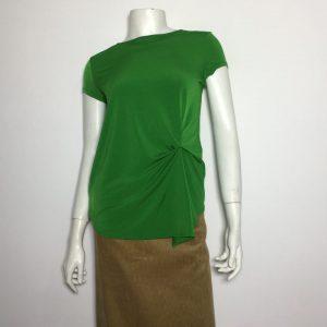 Áo-kiểu-thun-nữ-hiệu-I.N.C-tay-ngắn-cổ-tròn-màu-xanh-có-nhấn-eo-size-P-chính-hãng