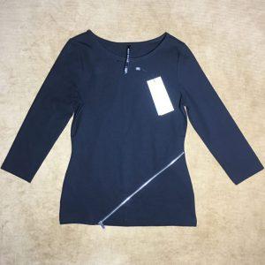 Áo-kiểu-thun-nữ-hiệu-Karen-Millen-tay-dài-cổ-tròn-màu-đen-sizeUS-4-chính-hãng