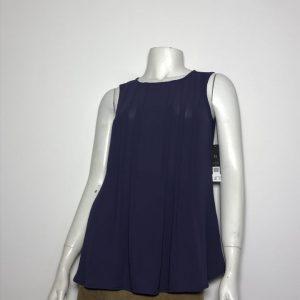 Áo-kiểu-voan-nữ-hiệu-NicZoe-cổ-tròn-không-tay-màu-xanh-đậm-size-XS-chính-hãng