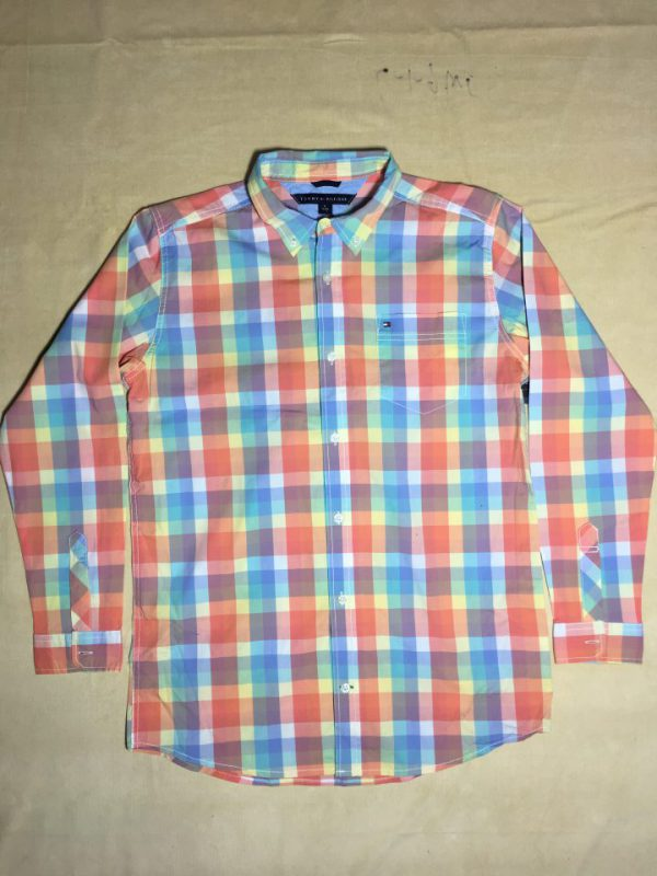 Áo-sơ-mi-nam-Tommy-Hilfiger-bằng-cotton-tay-dài-sọc-caro-nhiều-màu-size-XL20-chính-hãng
