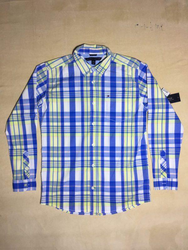 Áo-sơ-mi-nam-Tommy-Hilfiger-bằng-cotton-tay-dài-sọc-nhuyễn-màu-xanh-size-L-chính-hãng