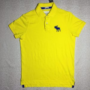 Áo-thun-AbercrombieFitch-100-cotton-cổ-bẻ-ngắn-tay-màu-vàng-size-M-chính-hãng