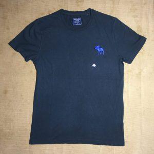 Áo-thun-nam-AbercrombieFitch-100-cotton-cổ-tròn-ngắn-tay-màu-đen-size-S-chính-hãng