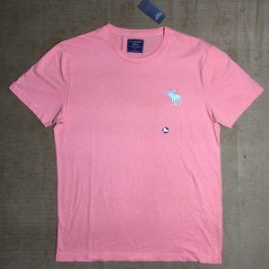 Áo-thun-nam-AbercrombieFitch-100-cotton-cổ-tròn-ngắn-tay-màu-cam-size-M-chính-hãng