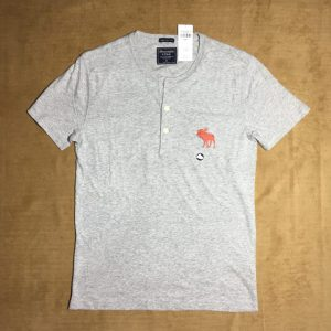 Áo-thun-nam-AbercrombieFitch-100-cotton-cổ-tròn-ngắn-tay-màu-xám-size-XS-chính-hãng