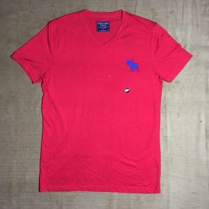 Áo-thun-nam-AbercrombieFitch-cổ-tim-ngắn-tay-màu-đỏ-size-S-chính-hãng