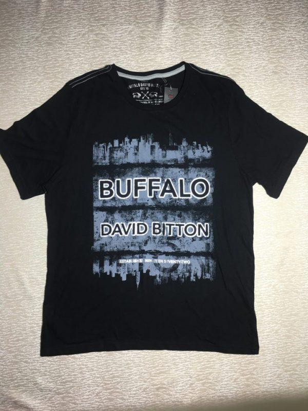 Áo-thun-nam-Buffalo-David-Bitton-100-cotton-cổ-tròn-tay-ngắn-màu-đen-size-S-chính-hãng