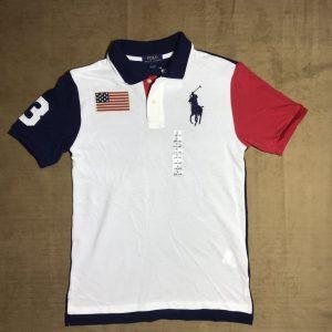 Áo-thun-nam-Polo-Ralph-Lauren-100-cotton-cổ-bẻ-ngắn-tay-màu-trắng-size-L-chính-hãng
