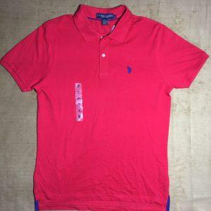 Áo-thun-nam-U.S.-Polo-Assn-100-cotton-cổ-bẻ-ngắn-tay-màu-đỏ-size-M-chính-hãng