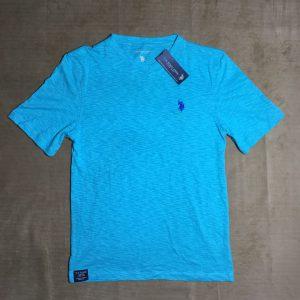Áo-thun-nam-U.S.-Polo-Assn-100-cotton-cổ-tim-ngắn-tay-màu-xanh-size-L-chính-hãng