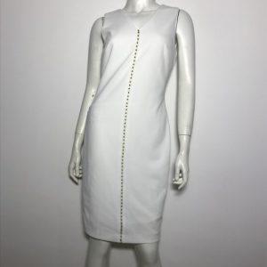 Đầm-body-công-sở-dự-tiệc-hiệu-Calvin-Klein-cổ-tim-tay-ngắn-màu-trắng-size-2-chính-hãng