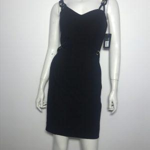 Đầm-body-ngắn-dự-tiệc-nữ-hiệu-Guess-hai-dây-màu-đen-size-4-chính-hãng