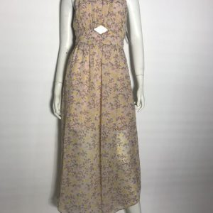 Đầm-dài-dự-tiệc-nữ-hiệu-BCBG-vải-voan-cổ-yếm-hở-lưng-in-hoa-size-4-chính-hãng
