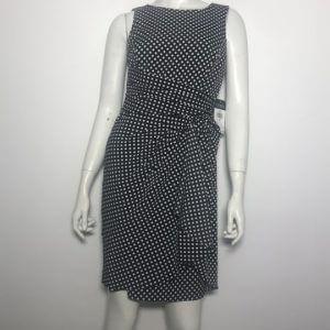 Đầm-ngắn-dự-tiệc-công-sở-nữ-hiệu-Lauren-không-tay-màu-đen-họa-tiết-ô-vuông-trắng-size-4P-chính-hãng