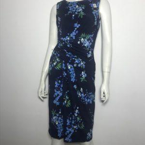 Đầm-ngắn-dự-tiệc-công-sở-nữ-hiệu-Ttahari-không-tay-họa-tiết-hoa-màu-xanh-size-24-chính-hãng
