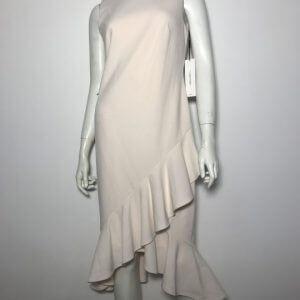 Đầm-ngắn-dự-tiệc-nữ-hiệu-Calvin-Klein-không-tay-đuôi-cá-màu-hồng-phấn-size-4-chính-hãng