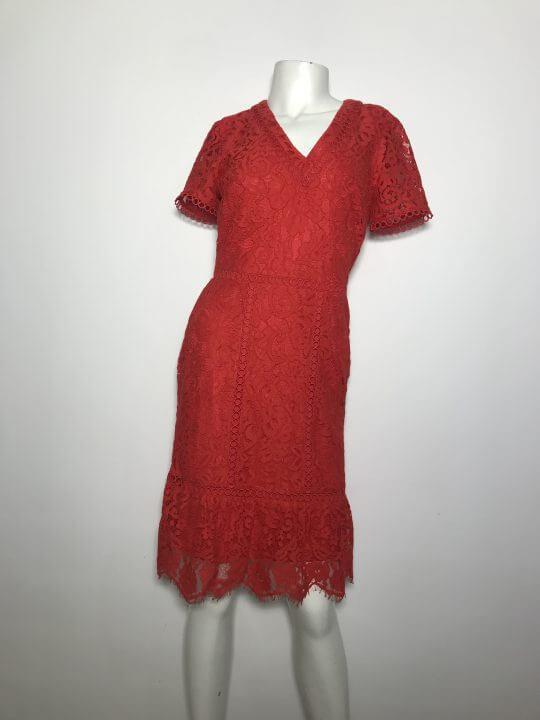 Đầm-ngắn-dự-tiệc-nữ-hiệu-Karllagerfeld-bằng-ren-cổ-tim-tay-ngắn-màu-đỏ-size-2-chính-hãng
