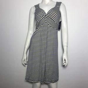 Đầm-thun-ngắn-dự-tiệc-công-sở-nữ-hiệu-StyleCo-Petite-không-tay-sọc-ngang-trắng-đen-size-PS-chính-hãng