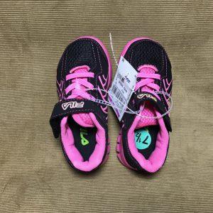 Giày-thể-thao-bé-trai-bé-gái-hiệu-Fila-màu-đen-đế-giày-màu-hồng-size-US-7-½-chính-hãng