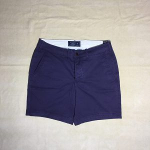 Quần short nam Abercrombie&Fitch bằng cotton màu tím size 28 chính hãng