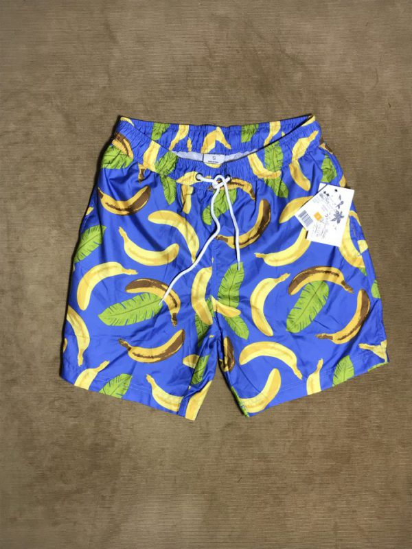 Quần short nam hiệu U.S.Surf Club màu xanh họa tiết trái chuối size S chính hãng