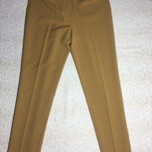 Quần-tây-công-sở-ống-ôm-nữ-có-túi-kiểu-sau-hiệu-Anne-Klein-màu-nâu-vàng-size2-chính-hãng