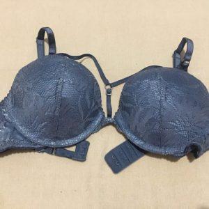 Áo-ngực-Victoria's-Secret-very-sexy-nâng-nhiều-cài-sau-cúp-ngang-ren-màu-xanh-size-32B-chính-hãng