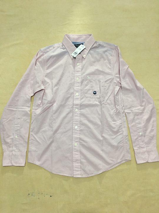 Áo-sơ-mi-nam-AbercrombieFitch-cotton-cổ-bẻ-tay-dài-màu-hồng-nhạt-sọc-caro-nhuyễn-size-S-chính-hãng-trước