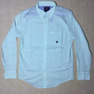 Áo-sơ-mi-nam-AbercrombieFitch-cotton-cổ-bẻ-tay-dài-màu-xanh-sọc-dọc-màu-trắng-size-XS-chính-hãng-trước