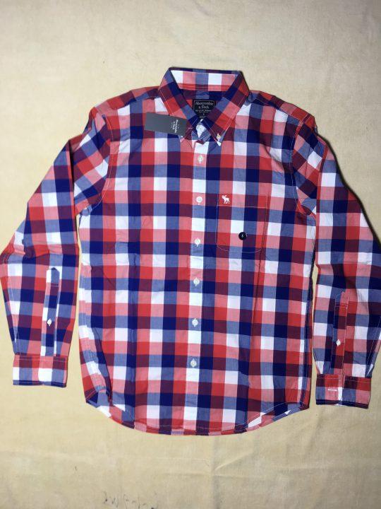 Áo-sơ-mi-nam-AbercrombieFitch-cotton-cổ-bẻ-tay-dài-sọc-caro-size-S-chính-hãng-trước-3