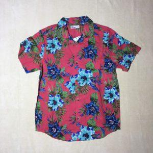 Áo-sơ-mi-nam-Epic-Threads-100-cotton-cổ-bẻ-tay-ngắn-màu-đỏ-họa-tiết-hoa-size-S-M-L-XL-chính-hãng-trước