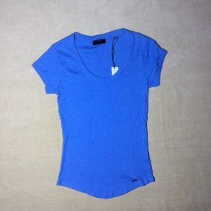 Áo-thun-nữ-tay-ngắn-cổ-tròn-hiệu-Tahari-màu-xanh-đậm-size-XS-M-chính-hãng-trước