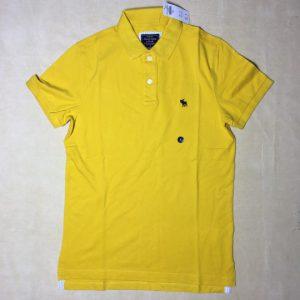 Áo-thun-nam-AbercrombieFitch-100-cotton-cổ-bẻ-ngắn-tay-màu-vàng-size-S-chính-hãng-trước