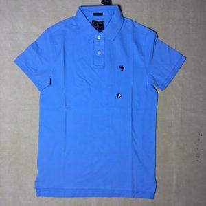 Áo-thun-nam-AbercrombieFitch-100-cotton-cổ-bẻ-ngắn-tay-màu-xanh-size-XS-chính-hãng-trước-1