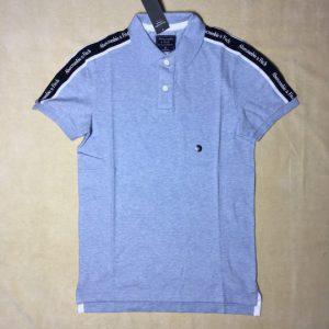 Áo-thun-nam-AbercrombieFitch-100-cotton-cổ-bẻ-ngắn-tay-màu-xanh-size-XS-chính-hãng-trước