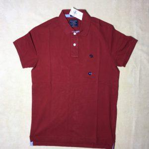 Áo-thun-nam-AbercrombieFitch-cotton-cổ-bẻ-tay-ngắn-màu-đỏ-đô-size-XS-chính-hãng-trước