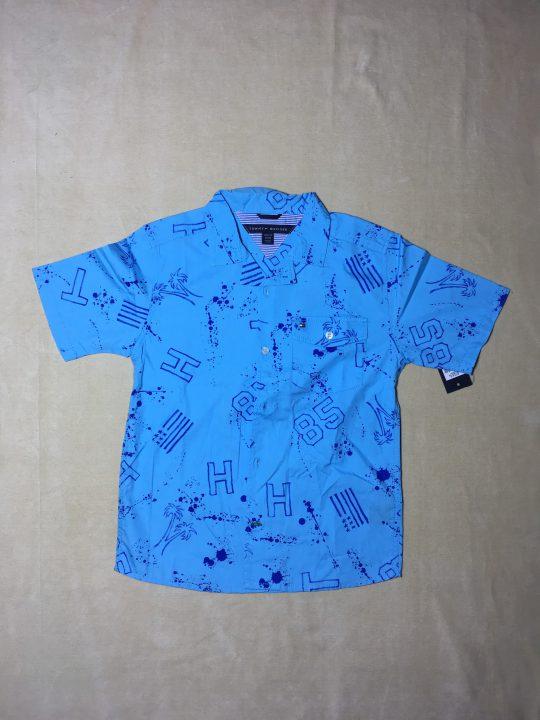 Áo-sơ-mi-tay-ngắn-cổ-bẻ-bé-trai-màu-xanh-hiệu-Tommy-Hilfiger-size-81216-hàng-xách-tay-mỹ