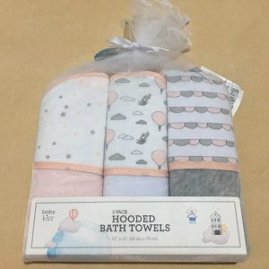 Bộ-3-khăn-tắm-trùm-đầu-em-bé-hiệu-Hooded-Bath-Towels-chính-hãng-trước-1