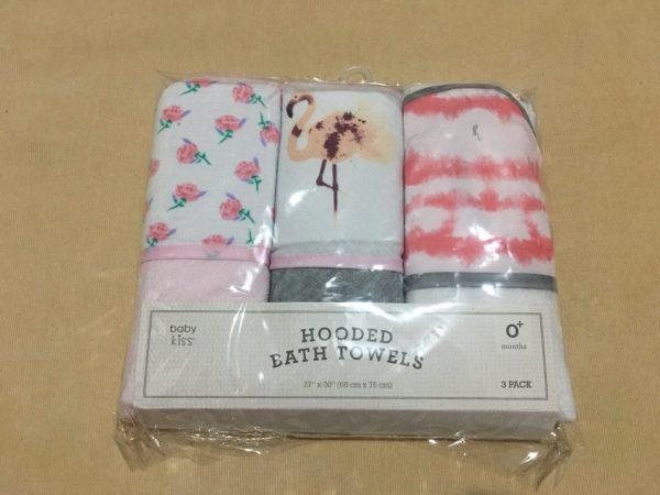 Bộ-3-khăn-tắm-trùm-đầu-em-bé-hiệu-Hooded-Bath-Towels-chính-hãng-trước