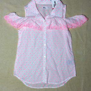 Áo-sơ-mi-kiểu-nữ-tay-dún-màu-hồng-phấn-size-XL-hiệu-Epic-threads-hàng-chính-hãng-mỹ