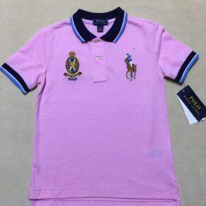 Áo-thun-bé-trai-3-4-tuổi-tay-ngắn-cổ-bẻ-cotton-màu-hồng-hiệu-Polo-Ralph-Lauren-size-5-hàng-xách-tay-mỹ
