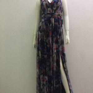 Đầm-dài-nữ-xẻ-đùi-trước-dự-tiệc-xếp-ly-vải-ren-hiệu-Adrianna-Papell-size-6-hàng-xách-tay-mỹ