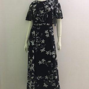 Đầm-maxi-nữ-dài-đi-dự-tiệc-công-sở-vải-voan-cao-cấp-màu-đen-hiệu-Calvin-Klein-size-2-hàng-xách-tay-mỹ