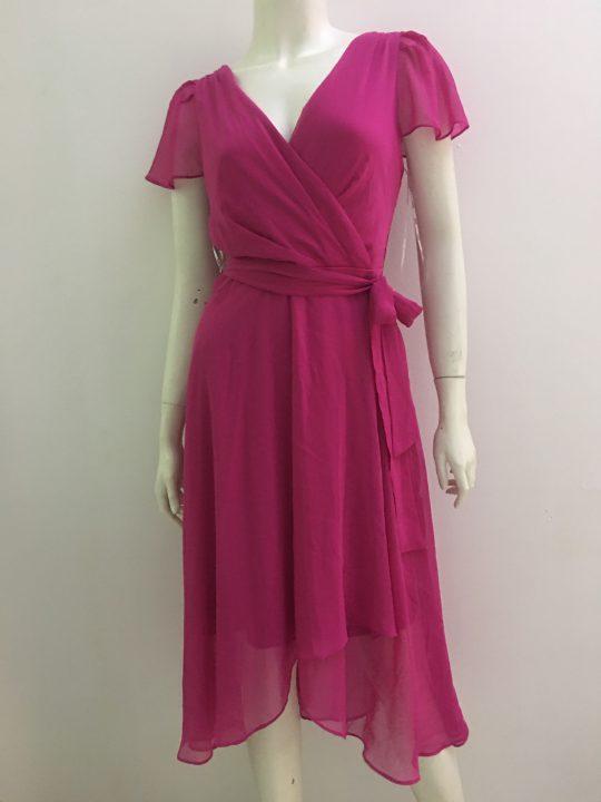 Đầm-nữ-công-sở-dự-tiệc-dạo-phố-vài-voan-cao-cấp-cổ-tim-màu-tím-hiệu-DKNY-size-2-hàng-xách-tay-mỹ