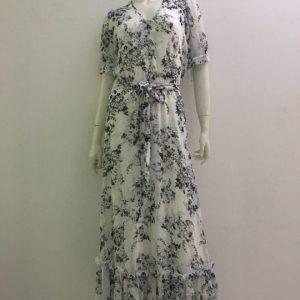 Đầm-nữ-công-sở-dự-tiệc-dạo-phố-vải-voan-cao-cấp-cổ-tim-màu-trắng-họa-tiết-hoa-hiệu-Calvin-Klein-size-2-hàng-xách-tay-mỹ