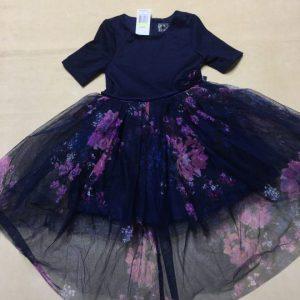 Đầm-xòe-công-chúa-bé-gái-4-5tuổi-đẹp-tay-ngắn-đính-nơ-bụng-màu-hồng-tím-họa-tiết-hoa-dễ-thương-size-4-hiệu-pinkviolet-hàng-xách-tay-mỹ