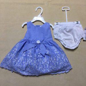 Đầm-xòe-công-chúa-bé-gái-cotton-không-tay-thắt-nơ-eo-1-1.5-tuổi-màu-xanh-hiệu-Rare-Editions-hàng-xách-tay-mỹ-1